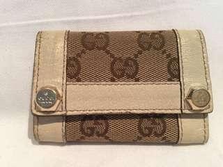 Gucci canvas GG print 6 ring key case