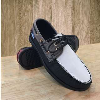 100% genuine leather hand-sewn top siders (locally made)