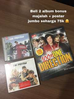 "One Direction - ""Up All Night"" & ""Take Me Home"" albums BONUS Majalah + Poster"
