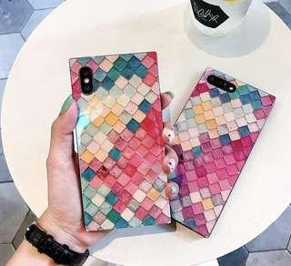 彩色仿魚鱗圖案iPhone Case