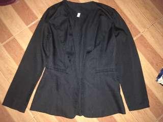 Semi-Long Blazer  Black