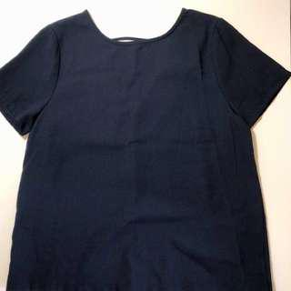 Editor's Market Navy Top with Cutout
