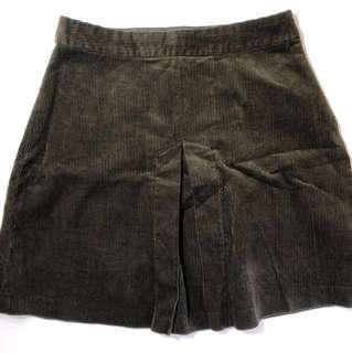 Zara Brown Corduroy Skirt