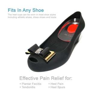 🚚 HEEL CUPS PLANTAR FASCIITIS SILICONE INSERTS GEL PADS FOR BONE SPUR PAIN RELIEF