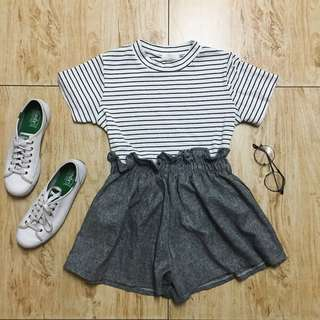 Gray Balloon Shorts