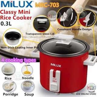 Milux Classy Mini Rice Cooker 0.3L MRC-703