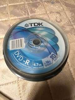 TDK DVD-R x 10