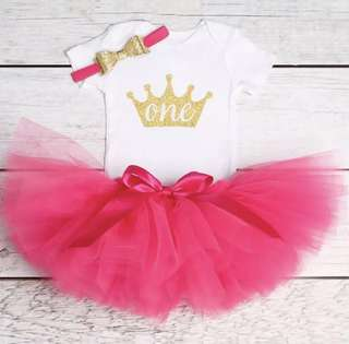Cotton Baby Girls Clothes 1 Year 1st Birthday Dress Party Dresses For Girl