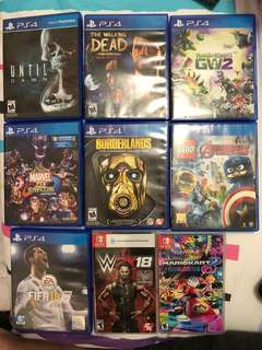 Ps4 & Nintendo Switch Games