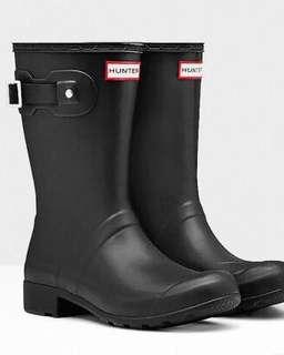 🚚 Hunter黑色雨靴