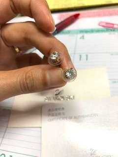 Swarovski Stud Solitaire Earrings (Diamond illusion)