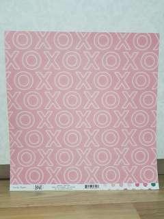 Crate Paper 'Hello, Love: Smitten' Scrapbooking Paper