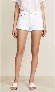 New White High waist distressed denim shorts US 4