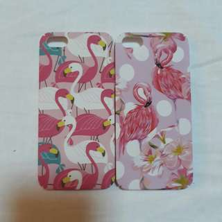 BUNDLE Buy 1 Take 1 Pink Flamingo Matte Rubberized Hard Cases for iPhone 5 5S SE
