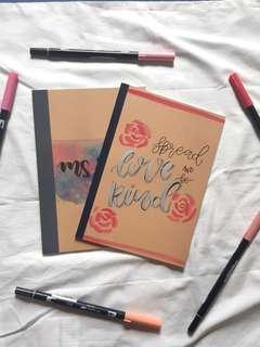 Personalised Muji Notebook