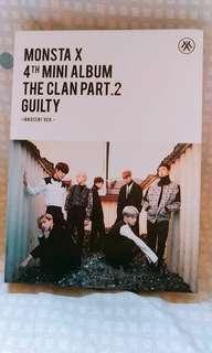 🚚 Monsta x 專輯♡(4th mini album The Clan Part.2 Guilty) ♡送年曆