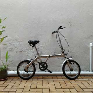 "Aleoca Carino 16"" Piegh evole foldable bike"