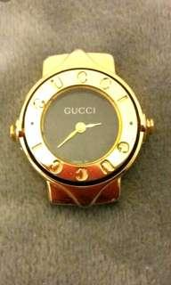 中古款Gucci鍍金可轉動錶玉(珍藏品不議價)