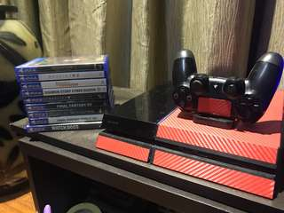 Playstation 4 With 9 Games