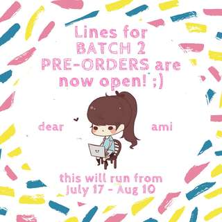 BATCH 2 IS UP ON OUR PAGE!
