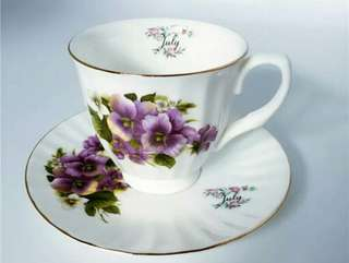 JULY Mos.Bone China. Cup and Saucer