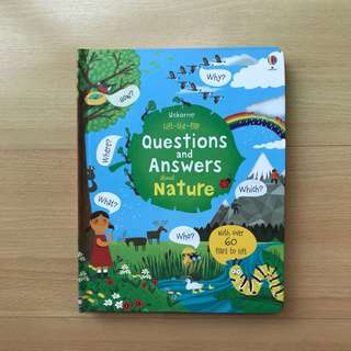 Usborne Lift the Flap Q&A About Nature