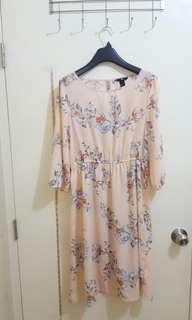 H&M Chiffon Floral Dress (Large - XL)