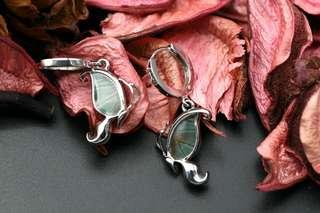 Navia Jewelry - Real Butterfly Wing Doxocopa cherubina Silver Earrings Korea