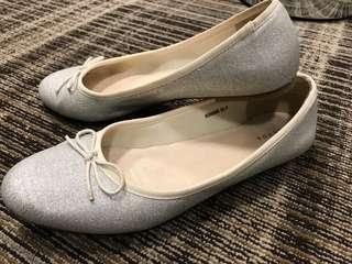 日本專櫃 亮銀芭蕾舞鞋 蝴蝶結🎀娃娃鞋