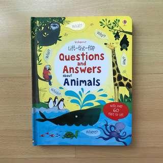 Usborne Lift the Flap Q&A About Animals