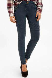Moto skinny jeans - teal size S