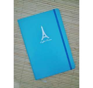 Notebook Journal - Eiffel Paris Blue
