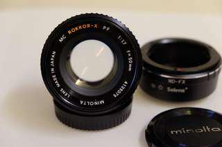 Minolta Rokkor-X MC 50/1.7 with MD-FX converter