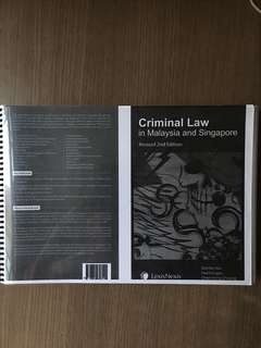 Criminal Law in Malaysia and Singapore: Revised 2nd Edition