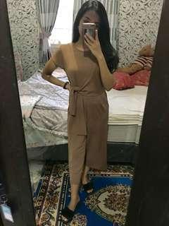 Jumpsuit mocca import bangkok