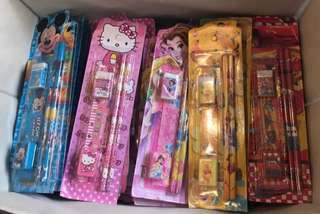 Stationery set for children party goodies bag