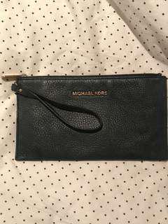 MICHAEL KORS Black Leather Clutch / Pouch