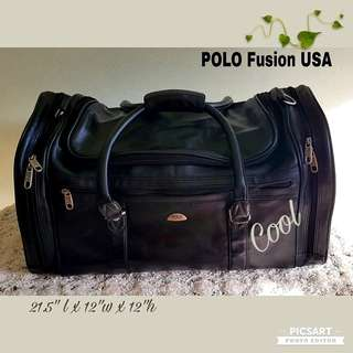 POLO USA Leather Bag. Durable and Water-proof. Spacious and has many side pockets and robust zips. Size as in photos. $15 Clearance offer, sms 96337309.