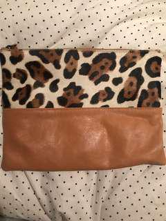 Faux Fur / Leather Clutch
