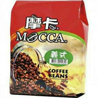 🚚 摩卡烘焙咖啡豆 義式/曼巴 400克/包