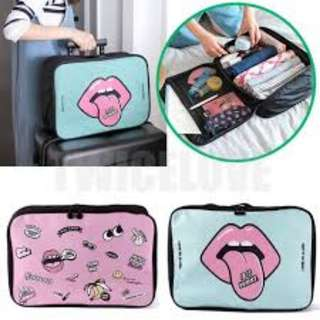 CUBE Type Portable Cute Luggage Waterproof Bag Travel & Sport Beg