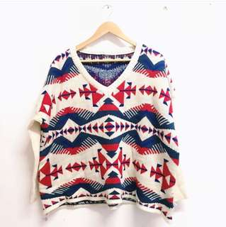 Knitted Tribal Sweatshirt