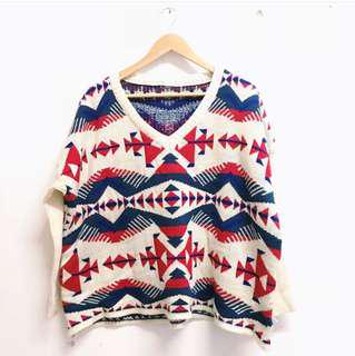 Knitted Tribal Sweatshirt