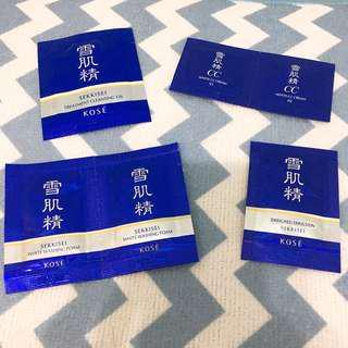 🚚 高絲Kose 雪肌精系列試用包四件組 搭配八件組🉑️算優惠喲