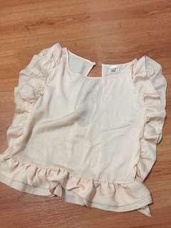Forever 21 silk ruffled blouse / top