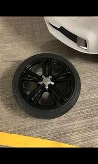 """八成新, 原裝S3 18"""" 軨連軚(Dunlop sportmax 2017 第6 週制造) 7.5J 51"""