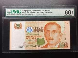 Singapore Portrait 1AA First Prefix UNC note