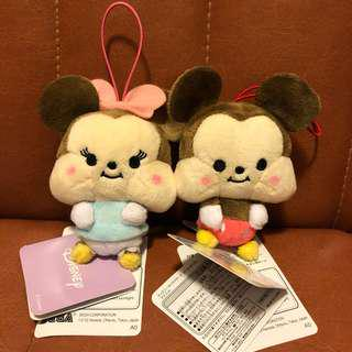 Cute Cute Mickey Mouse & Minnie Mouse