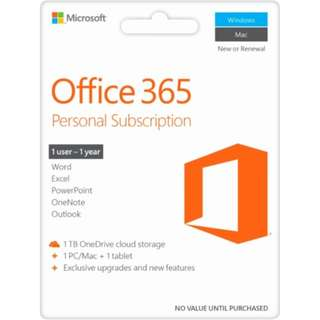 Office 365 Personal Subscription for Mac Windows