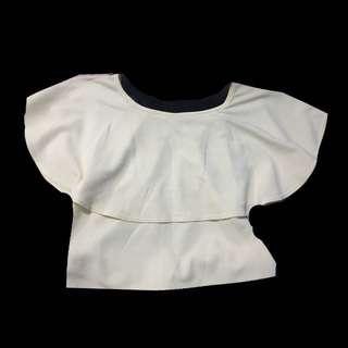 Cream Off-shoulder top